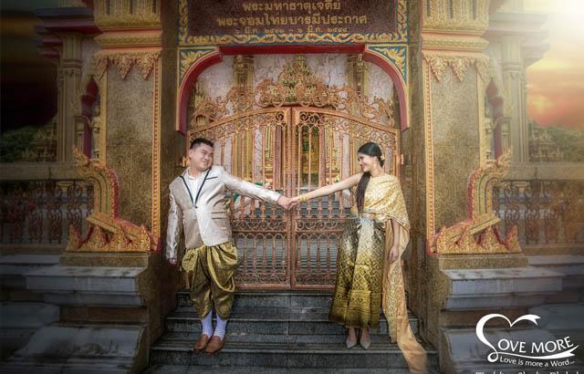 pre wedding, Phuket, beach, Thai,Temple,Old Town